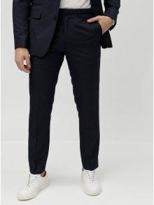 Tmavě modré kostkované oblekové slim fit kalhoty Burton Menswear London Puppytooth