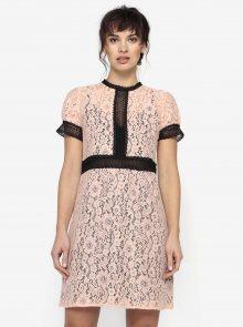 Světle růžové krajkové šaty s průsvitnými detaily Little Mistress
