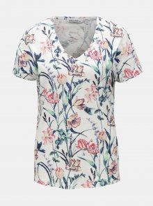 Bílé dámské květované tričko Garcia Jeans