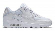 Nike Air Max 90 Mesh (GS) bílé 833418-100