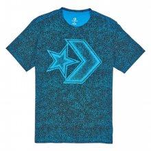 Converse modré pánské tričko Distressed Star Chveron Tee s logem - M