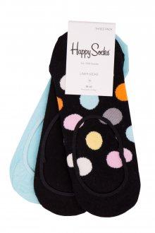 Happy Socks 3 pack barevných nízkých ponožek do tenisek Big Dot - 36-40