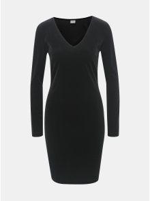 Černé sametové šaty s dlouhým rukávem Jacqueline de Yong Gorgeous
