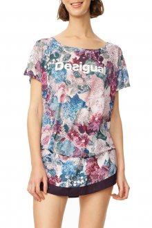 Desigual barevné sportovní tričko Oversize Art&Thread - S
