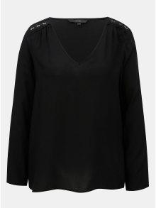 Černá halenka s krajkovými detaily VERO MODA Susan