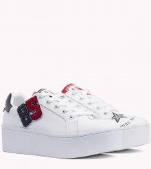 Tommy Hilfiger bílé kožené tenisky na platformě TJ85 Icon Sneaker - 39
