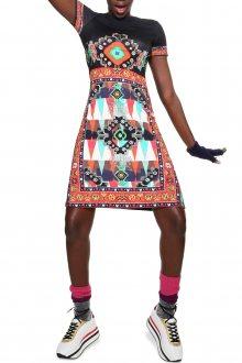 Desigual barevné šaty Josephinne - M