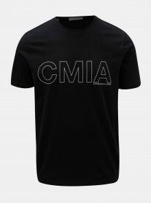 Černé tričko s krátkým rukávem Selected Homme Grace