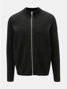 Černý svetr na zip Burton Menswear London