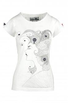 Sam 73 Dámské triko s abstraktním motivem bílá M