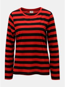 Černo-červené pruhované basic tričko Jacqueline de Yong Rosa