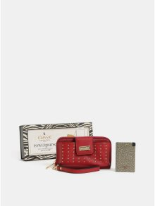 Červená peněženka s powerbankou 2000 mAh v dárkovém balení Something Special