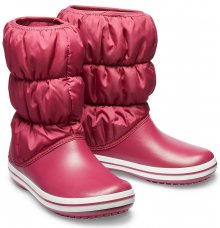 Crocs fuchsiové sněhule Winter Puff Boot Pomegranate - W7