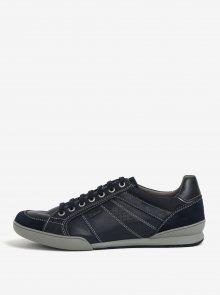 Tmavě modré pánské kožené tenisky Geox Kristof