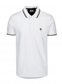 Bílé polo tričko s výšivkou Selected Homme Newseason