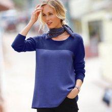 Blancheporte Dvoubarevný pulovr nachová/fialová 34/36