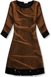 Hnědé třpytivé šaty