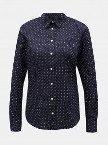 Tmavě modrá dámská puntíkovaná košile GANT