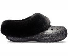 Crocs černé pantofle Mammoth Luxe Radiant Clog Black - 36/37