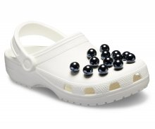 Crocs bílé dámské pantofle s perličkami Classic Timeless Clash Pearls Clog - 36/37