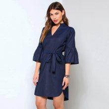 Venca Asymetrické šaty s mao výstřihem námořnická modrá S