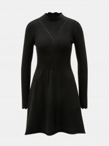 Černé svetrové šaty se stojáčkem ONLY Sonia