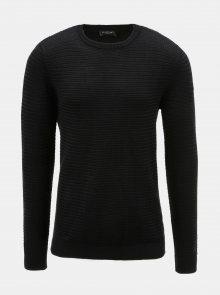 Černý vzorovaný svetr Selected Homme