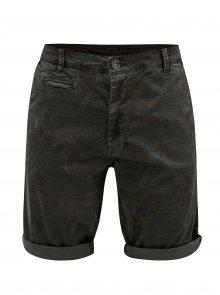 Hnědé pánské vzorované chino kraťasy Garcia Jeans