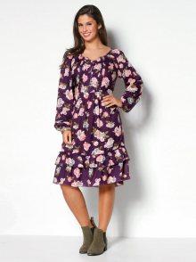 Venca Šaty s potiskem květin potisk L