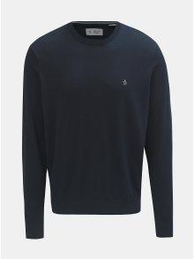 Tmavě modrý lehký svetr s kulatým výstřihem Original Penguin