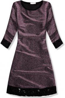Fialové třpytivé šaty