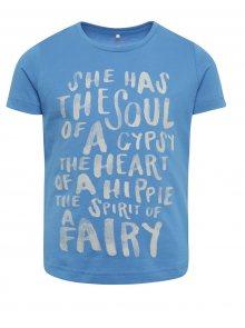 Modré holčičí tričko s potiskem name it Kira