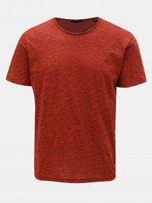 Červené žíhané basic tričko ONLY & SONS