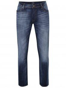 Modré regular fit džíny s vyšisovaným efektem Jack & Jones Clark