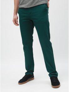 Tmavě zelené slim kalhoty Selected Homme Carlo