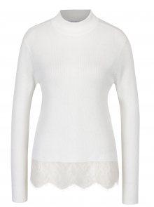 Krémový lehký svetr s krajkovým dolním lemem Jacqueline de Yong Victory