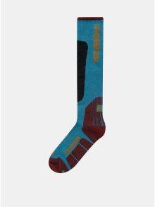 Vínovo-modré pánské snowboardové ponožky Horsefeathers Caleb Thermolite