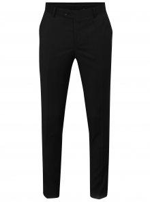 Černé oblekové vlněné kalhoty Good Son