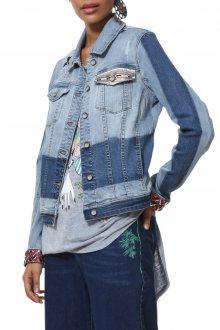 Desigual modrá džínová bunda Chaq Marguerite - 38