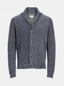 Šedý žíhaný kardigan Jack & Jones Knit