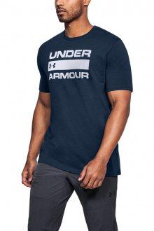 Under Armour tmavě modré pánské tričko Team ISSue Wordmark - S