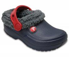 Crocs dětské zateplené pantofle Classic Blitzen Navy/Slate Grey - C7