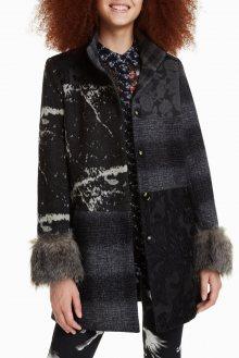 Desigual černo-šedý elegantní kabát Charlotte  - 36