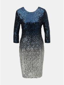 Tmavě modré flitrované šaty s ombré efektem Dorothy Perkins Petite