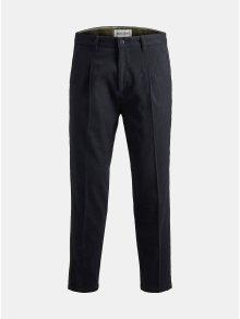 Tmavě modré zkrácené kalhoty Jack & Jones Ace