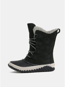 Černé dámské semišové voděodolné zimní boty SOREL Newbie