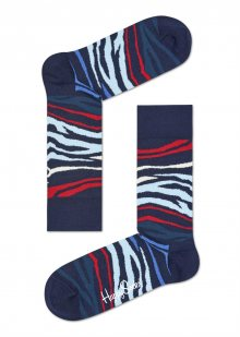 Happy Socks zebrované ponožky Multi Zebra Dark Blue - 36-40