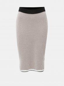 Černo-růžová pouzdrová pletená vzorovaná sukně Dorothy Perkins