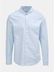Světle modrá slim fit košile s dlouhým rukávem Farah Brewer