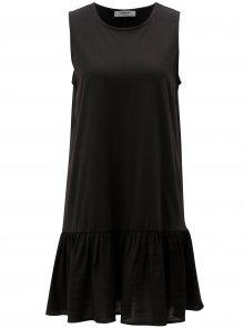 Černé volné šaty s volánem Moss Copenhagen